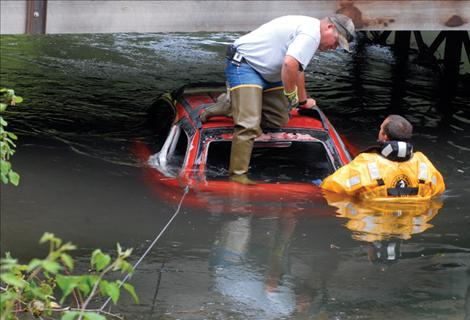 Car found in canal