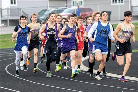 Locals participate in Lake County track meet.