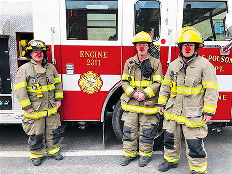 The Polson Fire Department pledge to support local children in need through the Red Nose Day fundraise