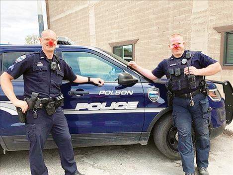 The Polson Police Department pledge to support local children in need through the Red Nose Day fundraise
