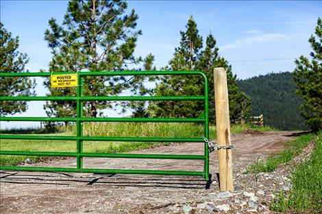 Pictured above is the gate that CSKT had installed to prevent unathorized use.