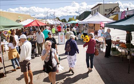 The Polson Farmers Market offers wares from up to 48 vendors each Friday morning.