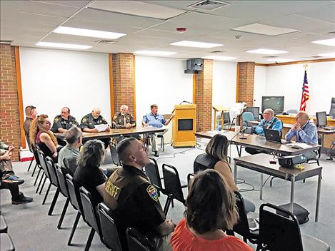 Lake County Commissioners and law enforcement officials discuss the need for a new jail.