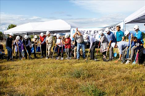 Groundbreaking ceremony for the new Polson club