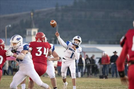 The Mission Bulldogs outscored the Arlee Warriors in Friday's 54-14 contest.