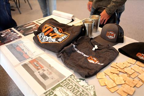 Ronan Cooperative Brewery merchandise is sold to help raise funds.