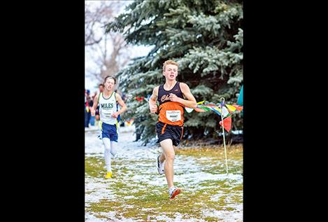 Ronan High School's Brant Heiner finished in the  top-25 with a 17:05.57 run, helping the Chiefs place sixth overall for Class A.