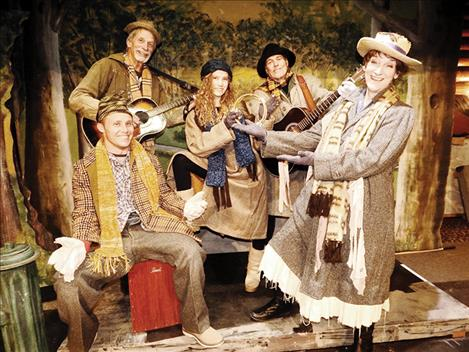 """Nick Marquardt, Neal Lewing, Laura Tromp, Ron Liljestrand, and Cathy Gillhouse joint a 35 member cast of""""The Beggar's Bounty."""""""