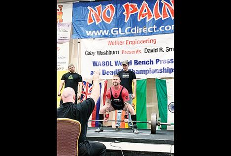 Lake County Sheriff's Deputy Scott Sciaretta competes at the World Bench Press and Deadlift Championships earlier this month in Las Vegas, Nevada.