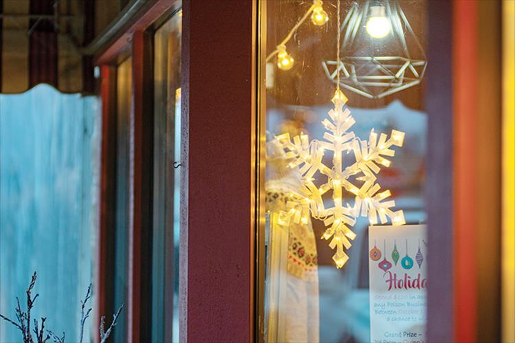 Holiday window dressing