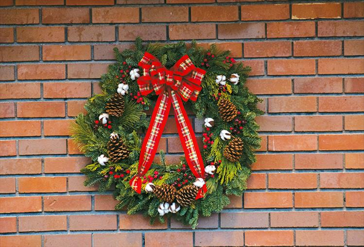 Decoration: Polson decorates for the holidays.