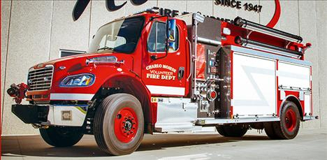 The new Charlo -Moiese Volunteer Fire Department's truck will be on display at the department's April 11 fundraiser at the Charlo School.