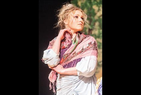 Veronica Marquardt plays the part of Frenzio the Fortune Teller in both Friday and Saturday night shows.