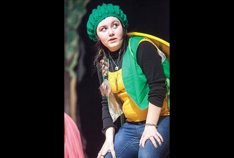 Abbey Howlett plays Curtis the tortoise in Friday's play.