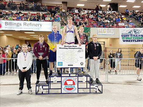 Mission/Charlo Isaiah Allik wins the State Class B/C 170-pound title.