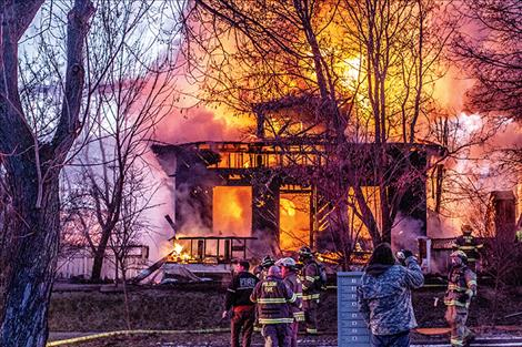Firefighters battled flames at 507 Third Street West from all sides of the house, which though still standing, has been deemed uninhabitable and considered a total loss.