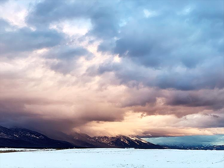 Drama: Dramatic skies have blanketed the Mission Range for most of February.
