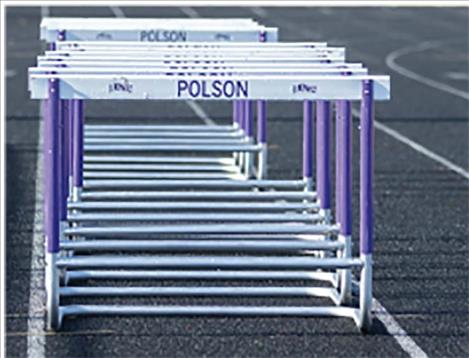 Hurdles at the Polson High School track are not being used due to COVID-19.