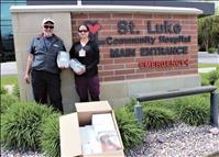 Eyewear company donates safety glasses to St. Luke