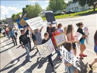 Anti-racism protest moves peacefully through Polson