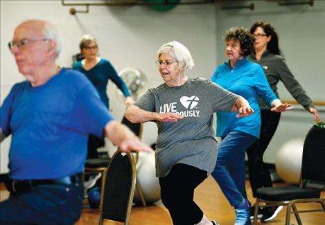 Seniors take part in an exercise class at the Missoula Family YMCA in 2019. According to a Montana Free Press analysis of median age statistics from the U.S. Census Bureau, Montana is the oldest state in the western United States.