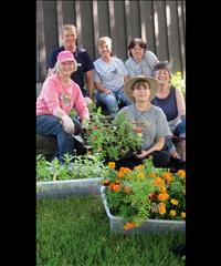 Gardeners add beauty to Polson theatre