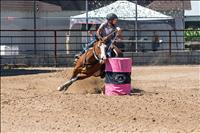 Barrel racers enjoy a day in the sun