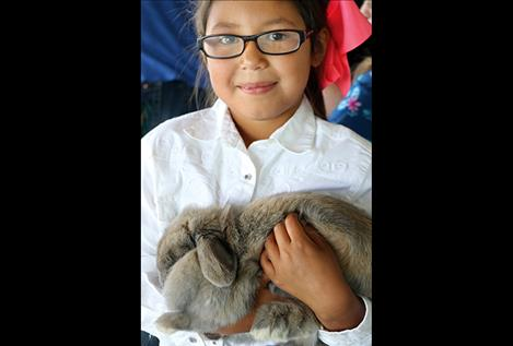 Tuneya Moran entered her bunny, Flower, who she's cared for in preparation for the fair for the past year.