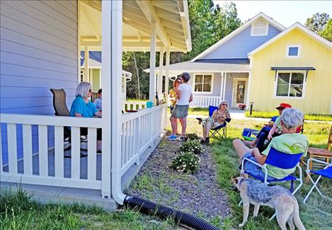 The newly built Village Hearth Cohousing community in Durham, North Carolina, contains a 28-house community for people age 55 and over and welcomes LGBT residents as well as allies.
