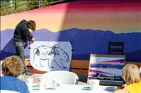 Lakers commission mural to honor beauty, culture of Flathead Lake