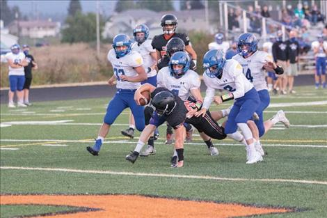 Ronan Chief running back Bruin Largent stretches across the goal line for a touchdown.