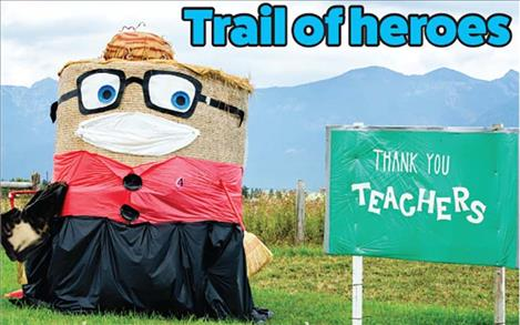 Teachers are shown appreciation with this Trail of Bales entry.