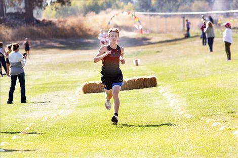 Ronan Chief Brant Heiner was the top varsity boys finisher out of 77 runners with a time of 16:25.