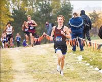 Heiner finishes third at state cross country