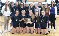 Lady Vikings win 14C volleyball district title