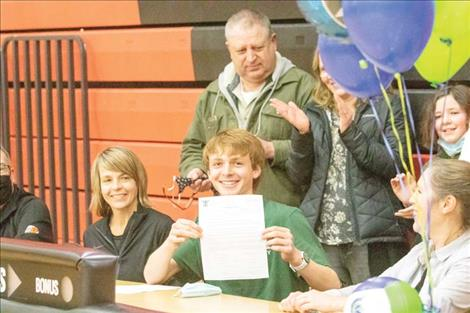 Brant Heiner signs with Montana Tech.