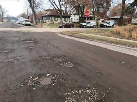Polson streets are in need of repair.