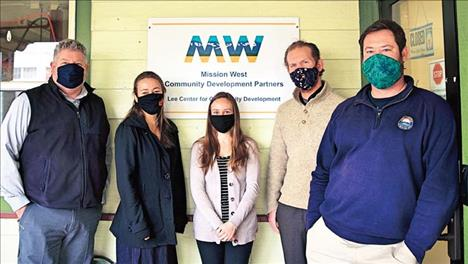 Joining the Mission West team are, left to right, Leonard Malin, Kayley Thornley, Anne Harney, Will Wright and Taylor Lyon.