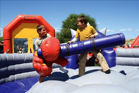 Inflatables offer family fun at Good Old Days in St. Ignatius.