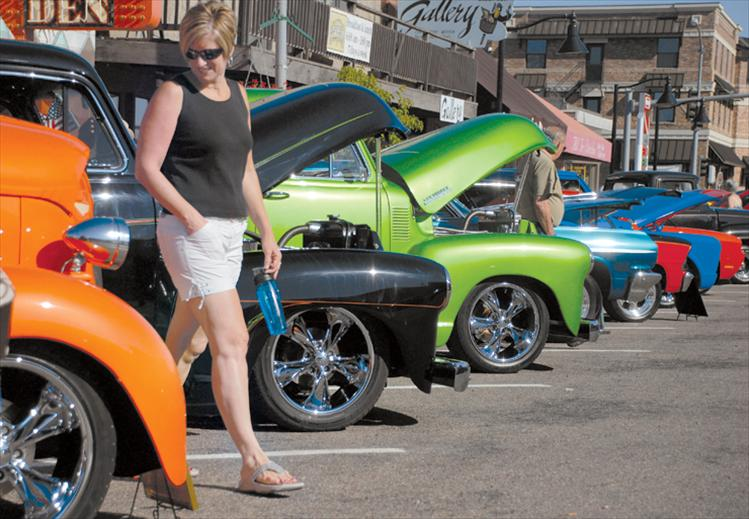 All the hues of a garden salad line Main Street Saturday as colorful classic cars find plenty of parking spots in Polson.