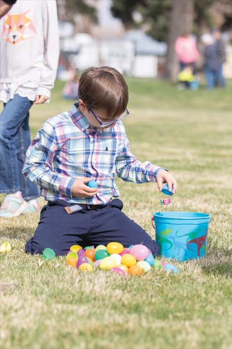 Ronan's Easter Egg Hunt hosted by Mission Mountain Enterprises.