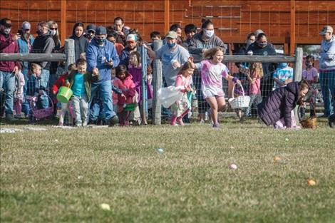 St. Ignatius Easter Egg Hunt sponsored by the St. Ignatius Chamber of Commerce.