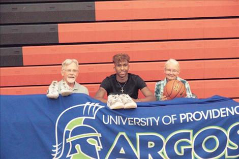 Ronan Chief Girma Detwiler recently signed his national letter of intent to continue his athletic career at the University of Providence Argos in Great Falls.