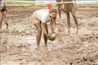 Mud volleyball makes its debut