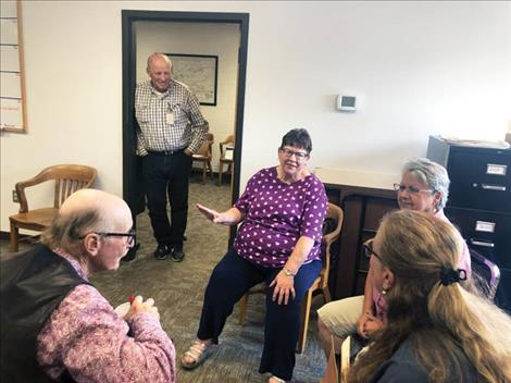A steady flow of coworkers, friends and colleagues stopped by the commissioners' chambers at the Lake County Courthouse to visit with retiring commissioner Dave Stipe, who stepped down from his post July 31 due to health issues.