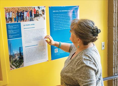 The public is invited to come view the story of the Sept. 11, 2001 attacks as its displayed across 14 posters hanging in the North Lake County Public Library during the month of September.