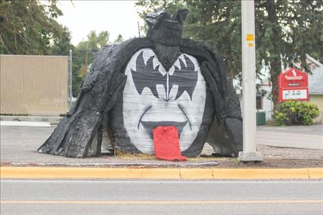 Many of this year's hay bale contest entries celebrate music of the 80s.