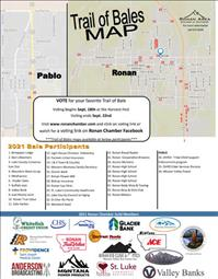 Ronan Chamber shares Trail of Bales map, voting ends Sept. 22