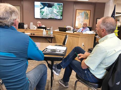 State Senators Bob Keenan and Greg Hertz and Commissioners Steve Stanley and Bill Barron were on hand for last Tuesday's monthly meeting at the Lake County Courthouse.
