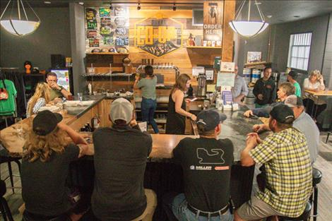 Patrons poured into the Ronan Co-op Brewery last weekend to celebrate the one year anniversary of the brewery's opening.